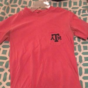 Coral comfort colors Texas A&M T-shirt